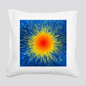 Radioactive emission from rad Square Canvas Pillow