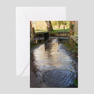 Raw sewage Greeting Card