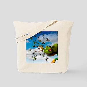 Raining frogs, artwork Tote Bag