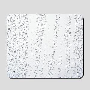 Raindrops on a window pane Mousepad