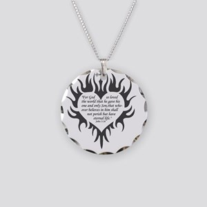 Gods Love Necklace Circle Charm