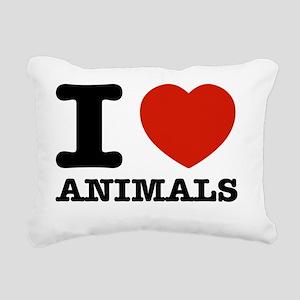 I love animals Rectangular Canvas Pillow