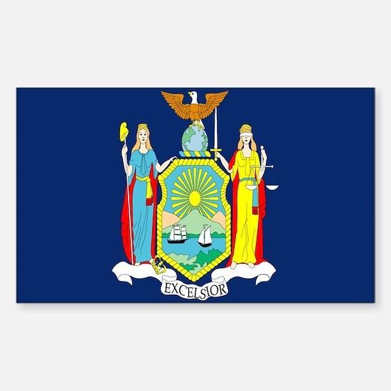 New York Flag Rectangle Decal