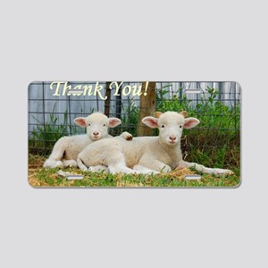 Buddy Lambs ~ Thank You! Aluminum License Plate