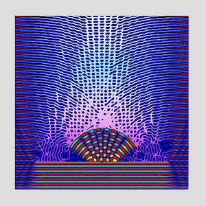 Quantum resonance Tile Coaster
