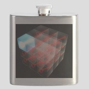 Quantum encryption, computer artwork Flask