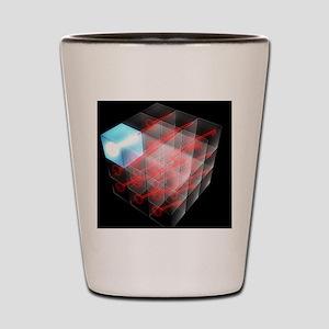 Quantum encryption, computer artwork Shot Glass