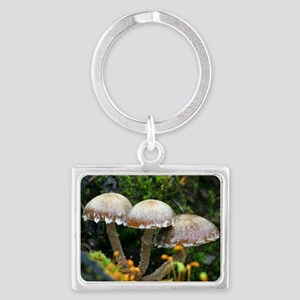 Psathyrella mushrooms after for Landscape Keychain