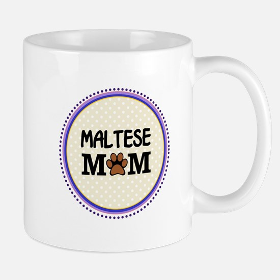 Maltese Dog Mom Mugs