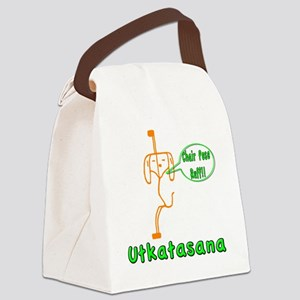 Yoga Chair Pose Canvas Lunch Bag