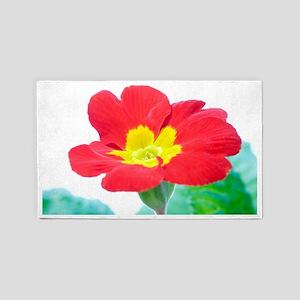 Primrose flower (Primula sp.) 3'x5' Area Rug