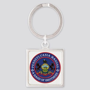 Freemasons. A band of Brothers Square Keychain