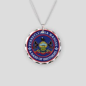 Freemasons. A band of Brothe Necklace Circle Charm