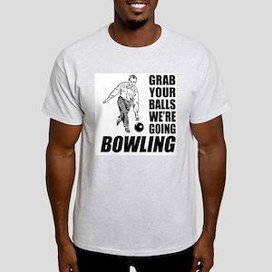 Grab Your Balls Bowling Light T-Shirt