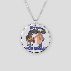 Grill Master Evan Necklace Circle Charm