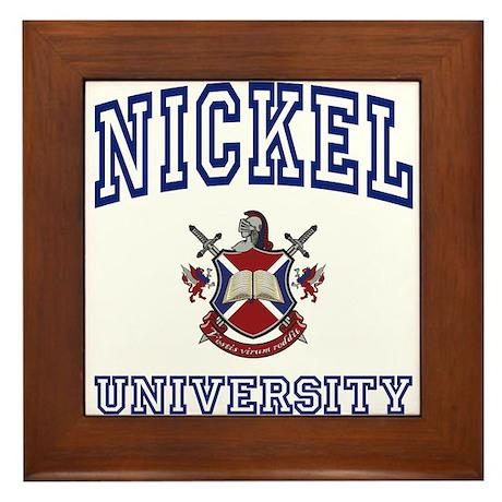 NICKEL University Framed Tile