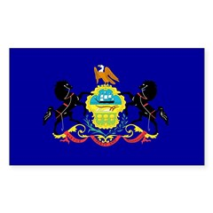 Pennsylvania Flag Rectangle Decal