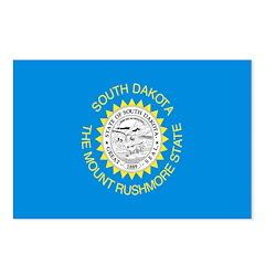 South Dakota Flag Postcards (Package of