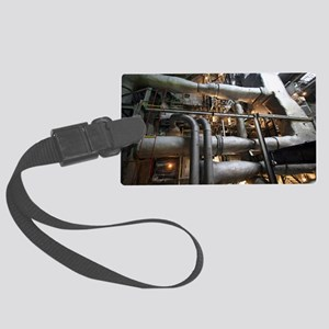 Power station boiler Large Luggage Tag