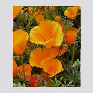 Poppies (Eschscholzia californica) Throw Blanket