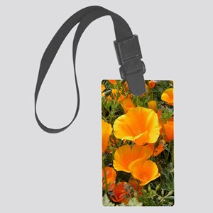 Poppies (Eschscholzia californic Large Luggage Tag