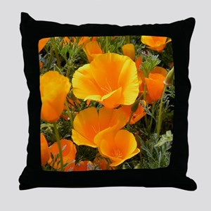 Poppies (Eschscholzia californica) Throw Pillow