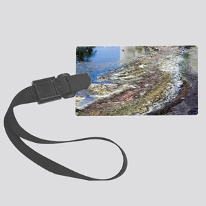 Polluted river Large Luggage Tag