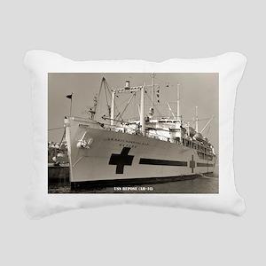 uss repose framed panel  Rectangular Canvas Pillow