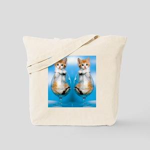 Orange Kitten in Class Flip Flops Tote Bag