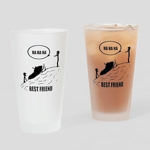 Friend / Best Friend Back Black Drinking Glass