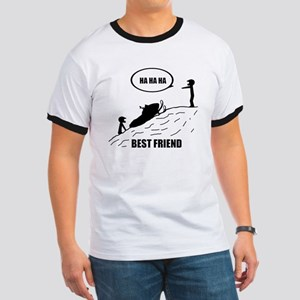 Friend / Best Friend Back Black Ringer T