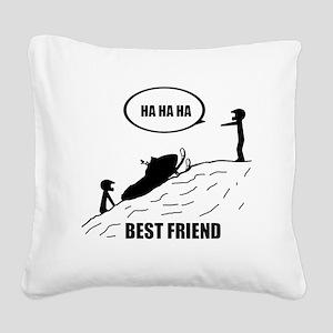 Friend / Best Friend Back Bla Square Canvas Pillow