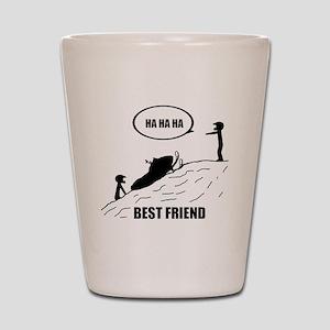 Friend / Best Friend Back Black Shot Glass