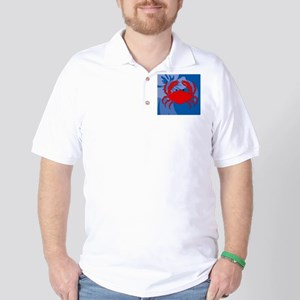 Crab Wine Label Golf Shirt