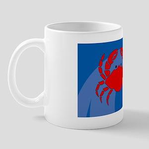 Crab Small Luggage Tag Mug