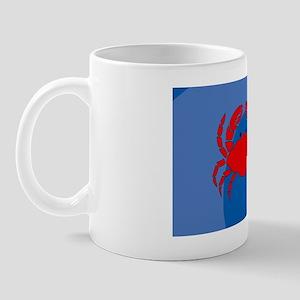 Crab Large Luggage Tag Mug