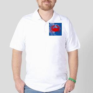 Crab Puzzle Coaster Golf Shirt