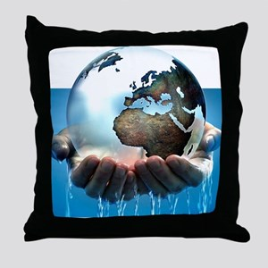 Polar ice caps melting, conceptual im Throw Pillow