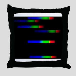 Pleiades emission spectra Throw Pillow