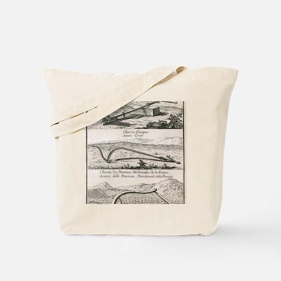 Plough types, 18th century artwork Tote Bag