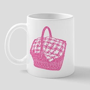 Pink Picnic Basket Mug
