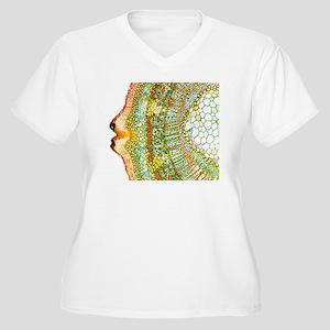 Plant breathing p Women's Plus Size V-Neck T-Shirt