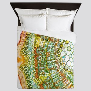 Plant breathing pore, light micrograph Queen Duvet