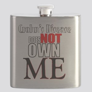 Crohns Disease Does NOT own Me Flask
