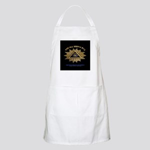ALL SEEING EYE SMILEY FACE GE BBQ Apron