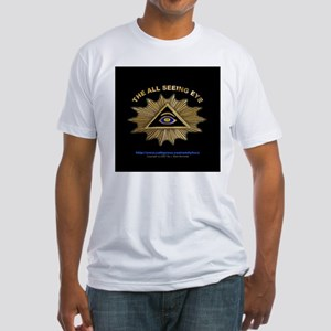 ALL SEEING EYE SMILEY FACE GE Fitted T-Shirt