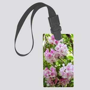 Pink rhododendron (Rhododendron  Large Luggage Tag