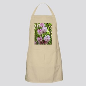 Pink rhododendron (Rhododendron sp.) Apron