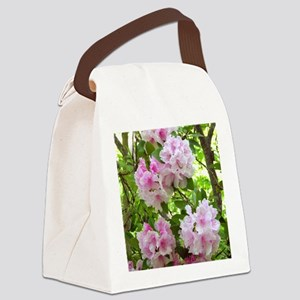 Pink rhododendron (Rhododendron s Canvas Lunch Bag