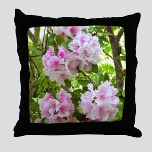 Pink rhododendron (Rhododendron sp.) Throw Pillow